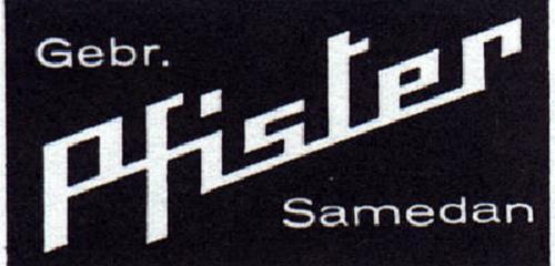 Historisches Logo Gebr. Pfister