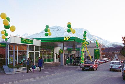 Umbau Migrol Tankstelle mit Shop 1992