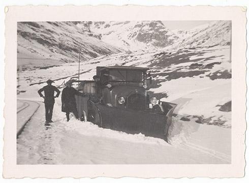 Historische Photos Schneepflug